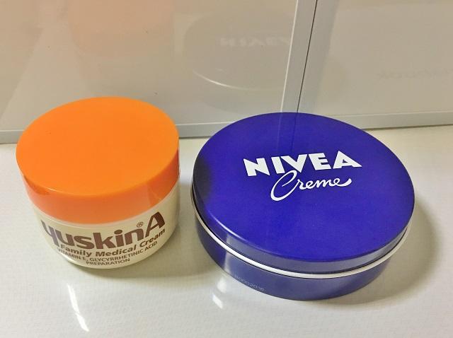 ユースキンAとニベア★顔に塗るとどうなるか比較してみました!シミや美白にもいいのか検証
